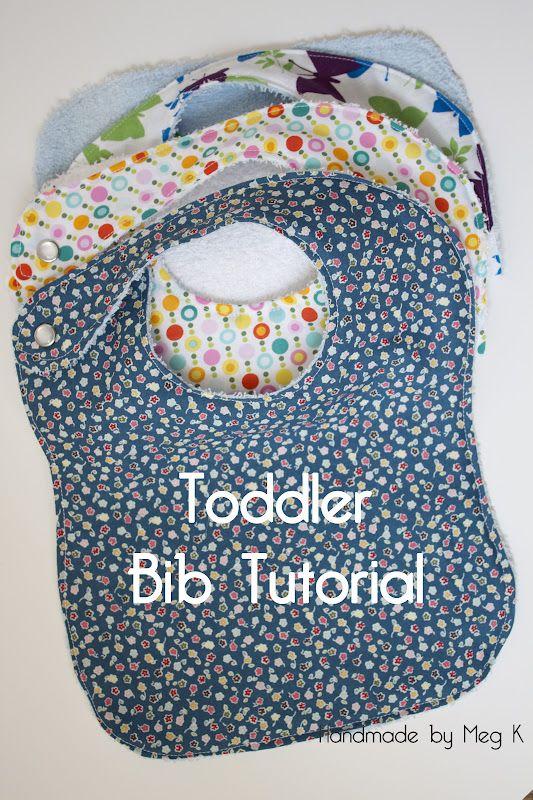 Handmade by Meg K: Toddler Bib Tutorial