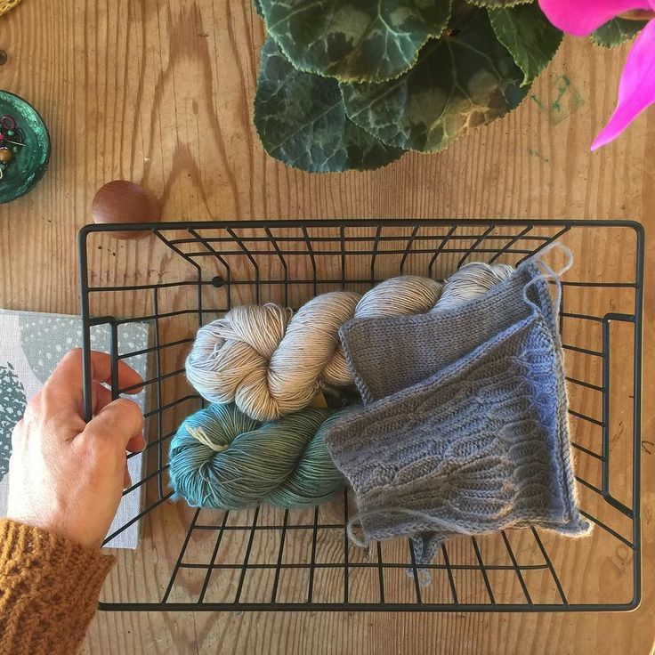 Totally inspired by @thewoolclub I'm popping my yarn for upcoming projects into a wee basket so I can have all the feels when I walk by them  . Do you have yarny displays?