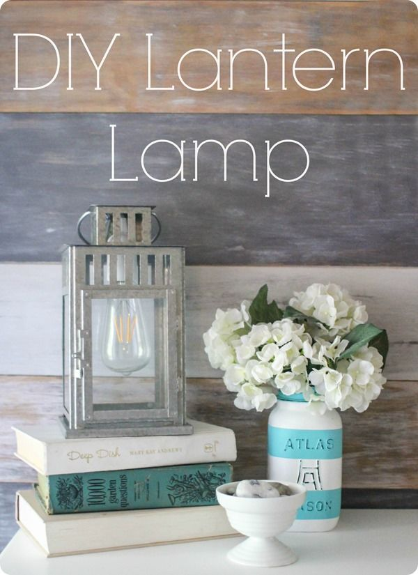 DIY lantern lamp. Step by step tutorial to turn any lantern into a lamp. A super inexpensive way to add some farmhouse lighting to your home.