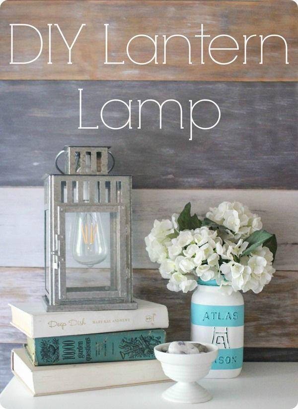 lampe lanterne bricolage.  Étape par étape tutoriel pour mettre toute la lanterne dans une lampe.  Un super moyen peu coûteux d'ajouter un éclairage ferme à votre domicile.