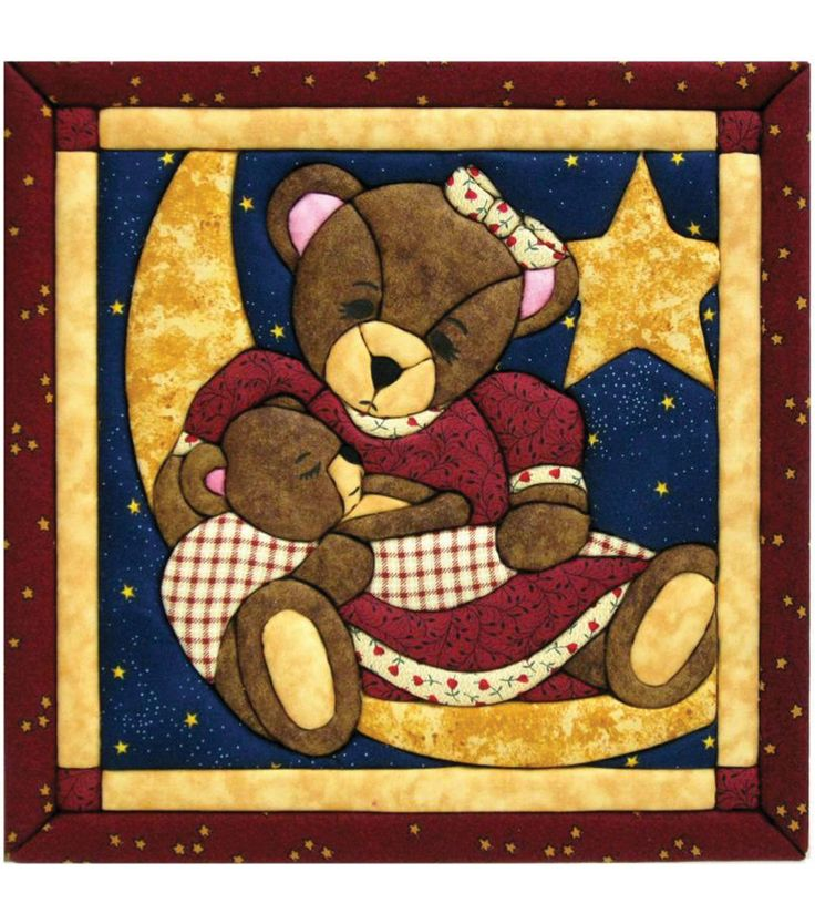 Momma Amp Baby Bear Quilt Magic Kit 12 Quot X12 Quot No Sew Tools