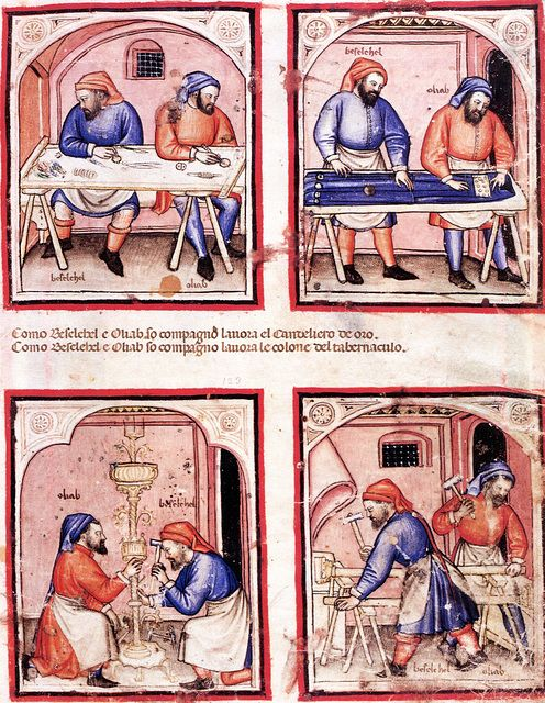 Paduan Bible Picture Book. [Londra, British Library, ms Add (Additional) 15277, f 16] Originally published/produced in N. Italy [Padua?]; last quarter of 14th century.