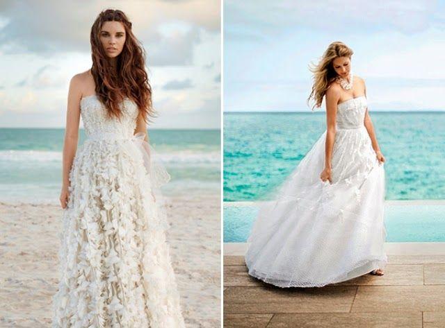 White Gown Beach Wedding Dress