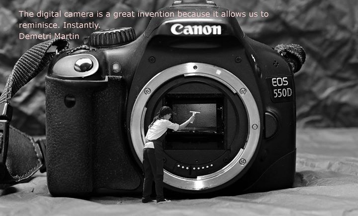 """""""The digital camera is a great invention because it allows us to reminisce. Instantly.""""- Demetri Martin"""