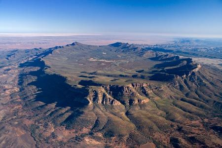The beautiful Flinders Ranges - South Australia. 500 km north of Adelaide, Wilpena Pound is just a small part of a huge area of arid Ranges of great natural beauty.