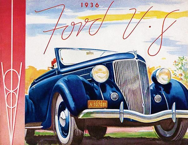 1936 Ford V-8 - Promotional Advertising Poster