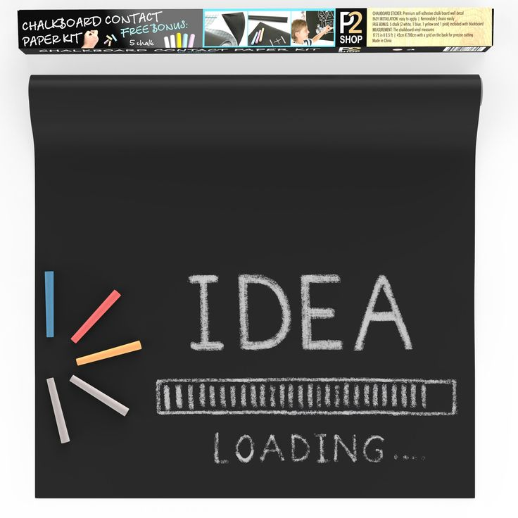 Best Multi-Purpose Chalkboard Contact Paper by P2Shop - Convenient & Space Saving - Applies To Every Surface - Ideal For Restaurant Menu, Offices, Teachers & Children