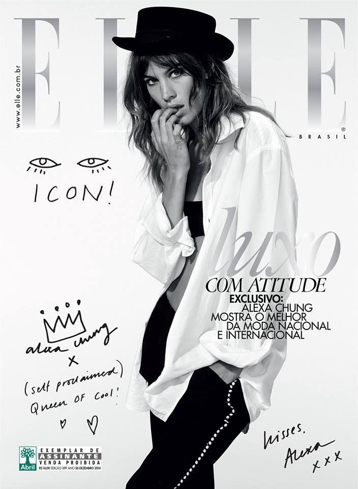 Elle Brazil December 2014, Alexa Chung