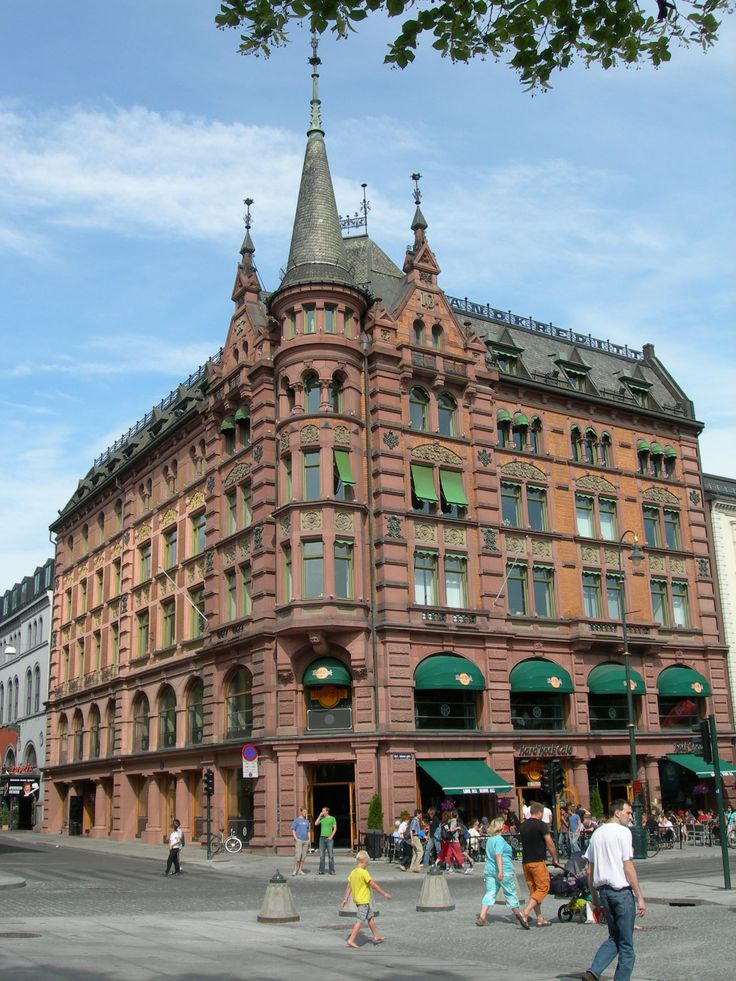 Oslo, Norway. A grocery is on the main floor. No supermarkets in Oslo.