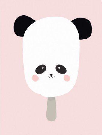 Eef Lillemor poster panda pop A3