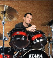 Recording drums for Truth or Dare, Dean Butterworth