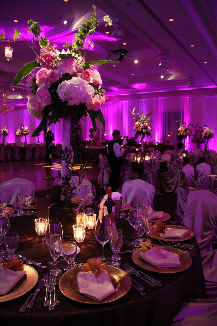 Hot Hot Hot Pink Wedding Reception Beautiful Plaza