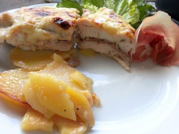 Pechugas de pollo rellenas al horno - Petti di pollo ripieni al forno - Chicken breast stuffed recipes baked