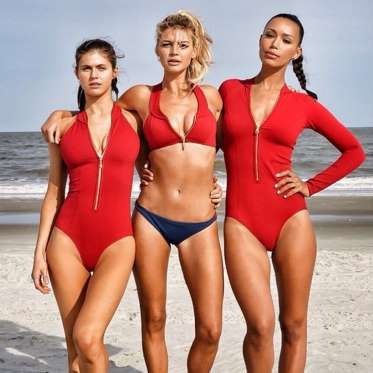 "Alexandra Daddario (with Kelly Rohrbach and Ilfenesh Hadera): ""Love working with these incredible la... - Instagram/alexannadaddario"
