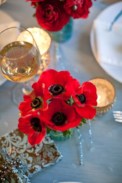 Red #anemone centerpiece I Katelyn James Photography I http://www.weddingwire.com/wedding-photos/i/black-wildflower-centerpiece-ballroom-vintage-style-romantic-red-museum-fall-spring-winter-barn-country-club-country-historic-site/i/9e6af3a1025f2b44-7579deef21bdae7e/47deb230b16637bf?tags=winter&page=1&cat=flowers&type=search I #wedding #centerpiece
