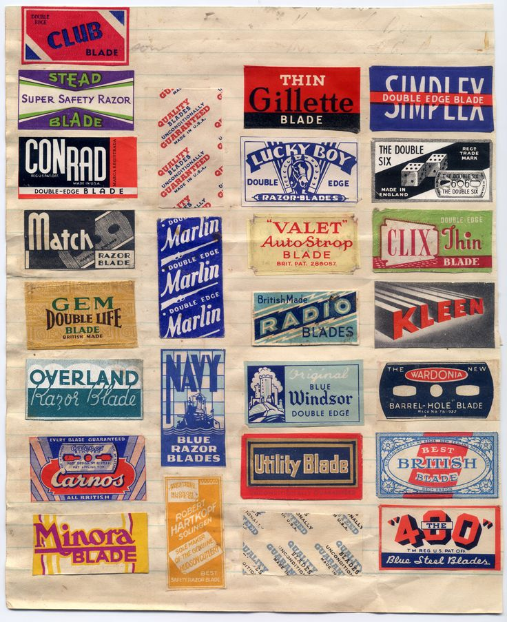 razor blade packaging graphics