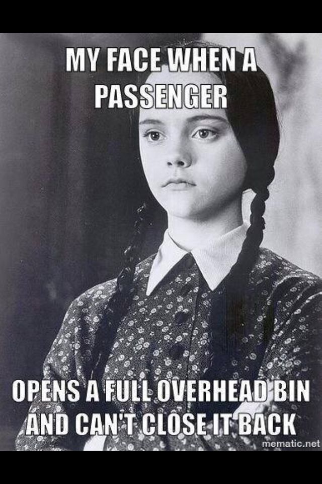 The look when a passenger opens a