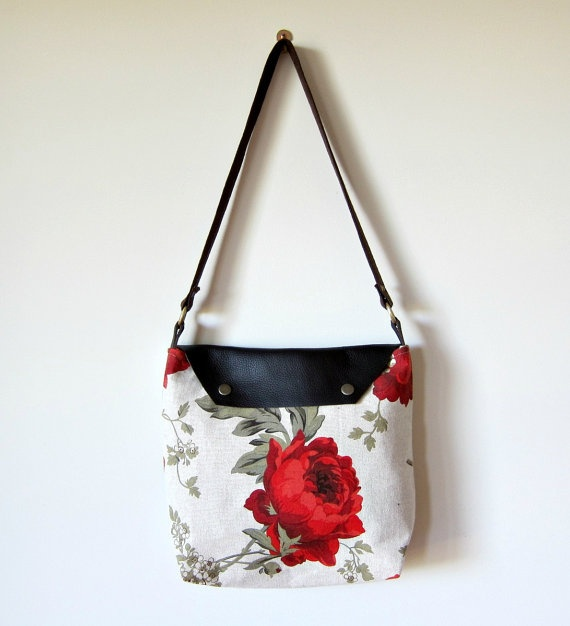 The Rose Shoulder Bag by KikayDesigns on Etsy, $70.00: Rose Shoulder