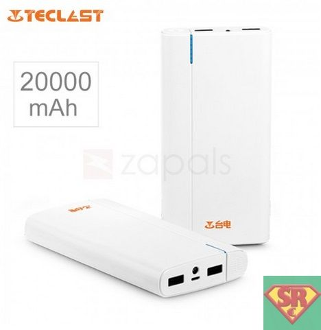 TECLAST T200CL 20000mAh Power Bank with Flashlight White