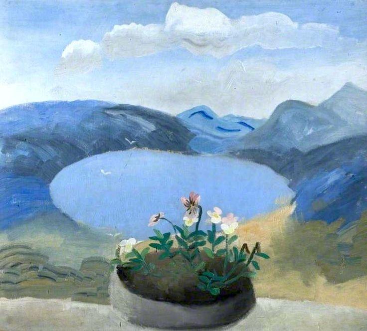 Winifred Nicholson (English, 1893–1981). Violas in a Window.