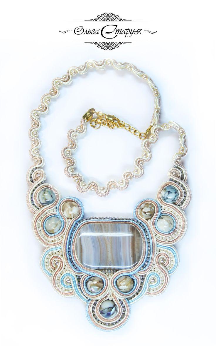 Колье «Нежность» / Цена - 500 грн / 2100р. / Price - 40 USD soutache / сутаж / necklace