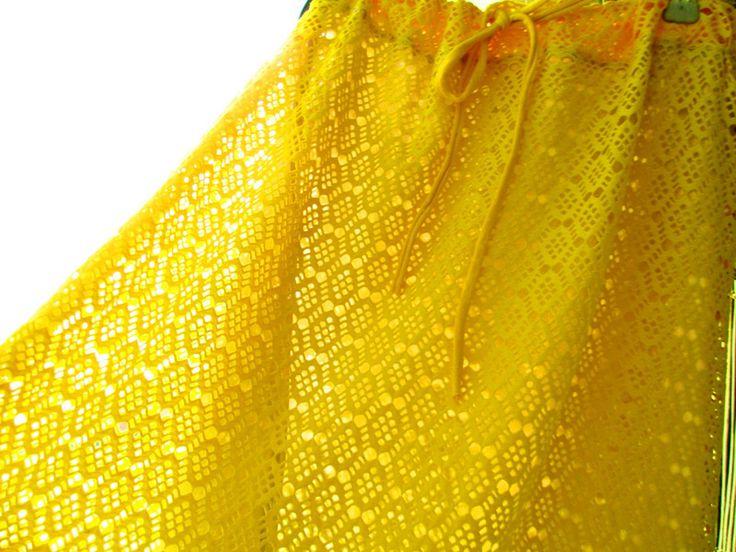 Rock Sunny, Sommerrock Spitze Gelb,Neue Kollektion von rote-tulpe auf DaWanda.com