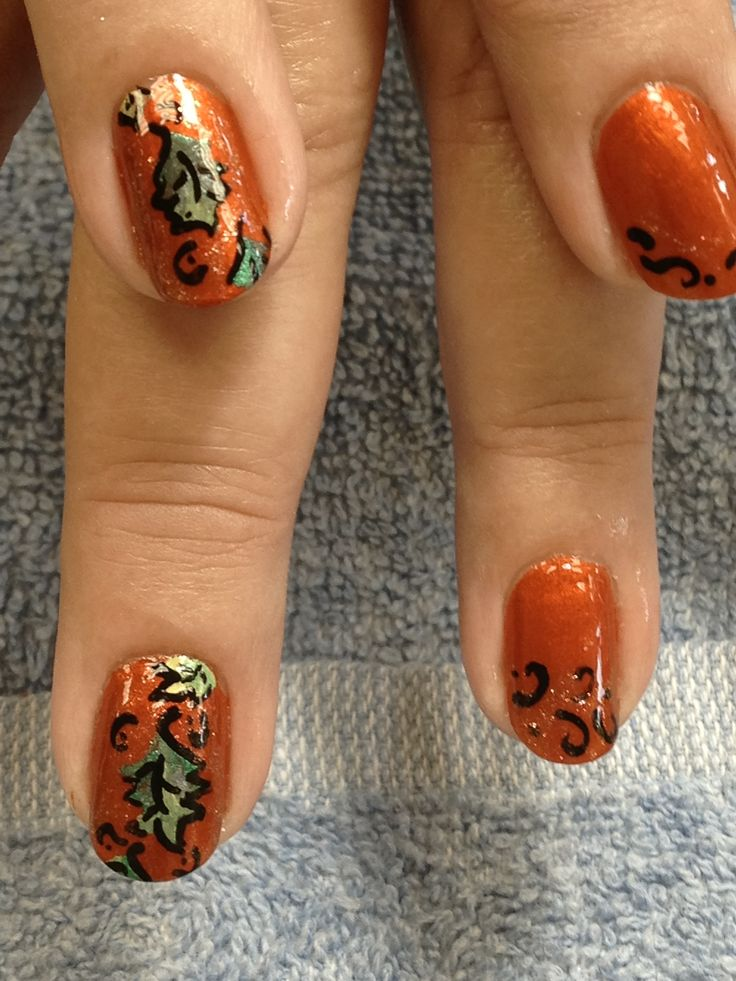 11 best Fall Nails images on Pinterest   Autumn nails, Autumn leaves ...
