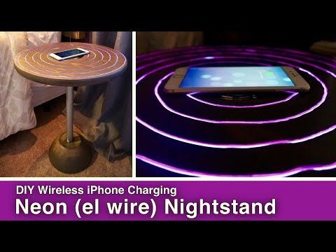 Wireless iPhone Charger Nightstand - Mother Daughter Projects