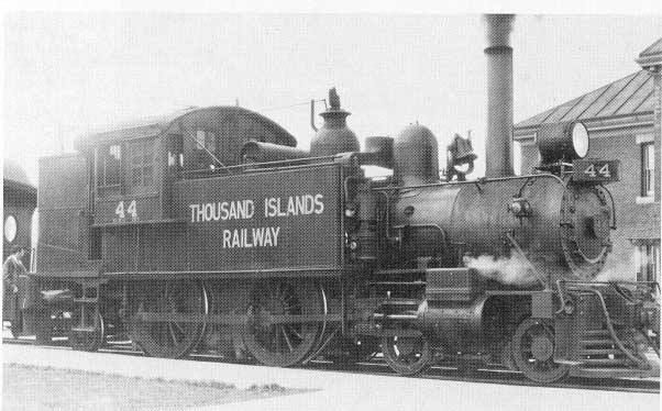 4-4-2T commuter tank locomotive specially built for the Belt Line Railway eventually used on the Thousand Islands Railway in Gananoque, Ontario