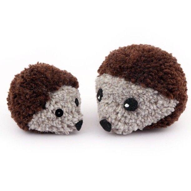 CUTENESS!!!! how to make Pom Pom Hedgehogs, now on mollymoo.ie