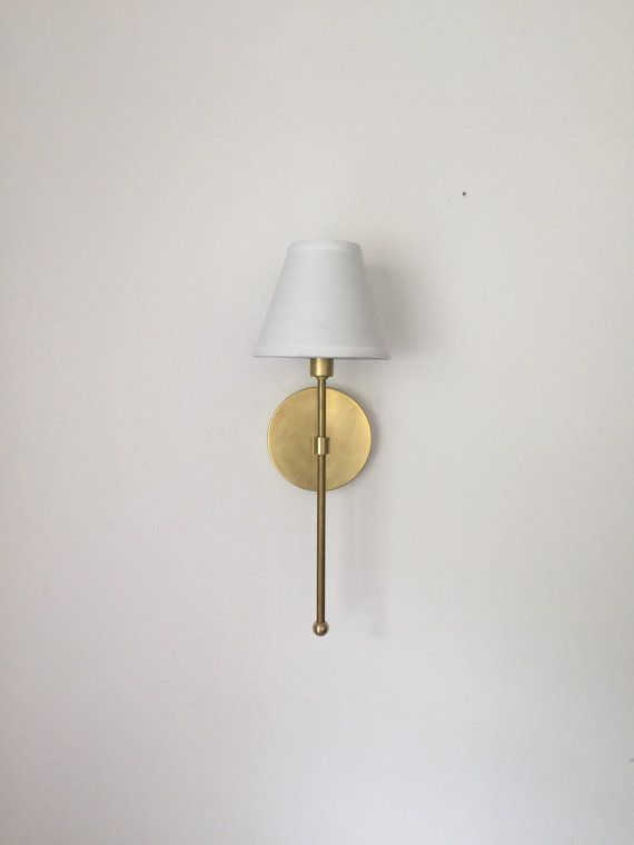 modern wall sconce lighting. vivianne solid brass light u0026 white shade industrial modern wall sconce lamp bathroom lighting