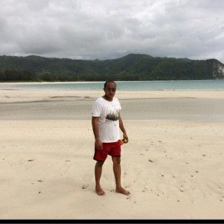 Mybrother at Tarimbang beach