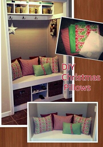 Christmas pillowsHoliday Inspiration Pillows, Christmas Crafts, Christmas Decor Ideas, Christmas Pillows, 2014 Ideas, Christmas Decorating Ideas, 2011 Ideas, Holiday Decor, Christmas Ideas