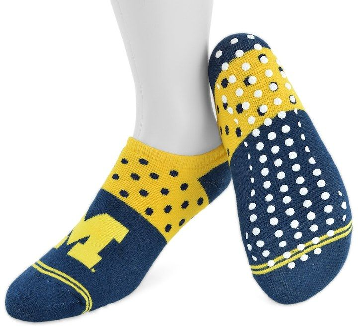 Mojo Women's Mojo Michigan Wolverines Speckled No-Show Grip Socks