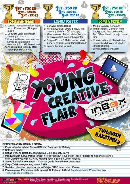 LOMBA DESAIN & ANIMASI YOUNG CREATIVE FLAIR 2014