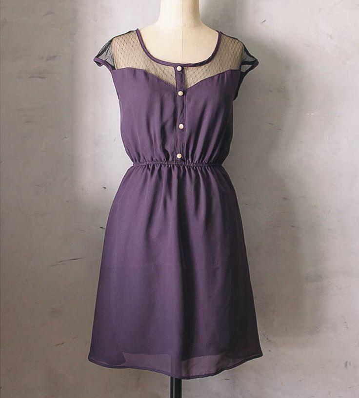 Petit Dejeuner Dress by Fleet Collection in Purple