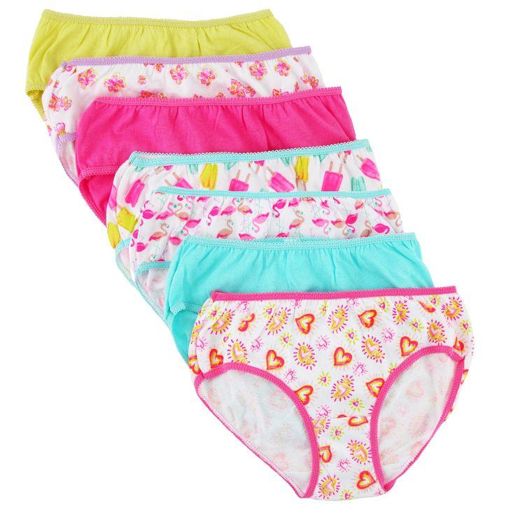 Rene Rofe Toddler Girl's Novelty Print Bikini Underwear (7 Pack)