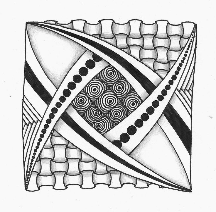 940 best images about zentangle en doodles on pinterest for Zentangle tile template