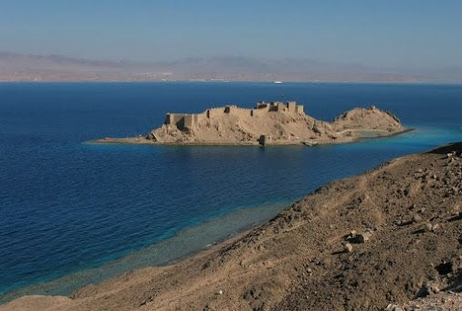Excursions in Taba Egypt; Saladdin Fort at Pharaoh Island in Taba, Egypt. #Egypt #Redsea #Tours #Trips #Excursions