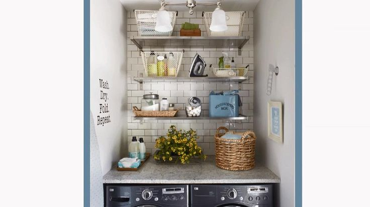 17 best images about laundry on pinterest washers how Storage solutions for small laundry rooms