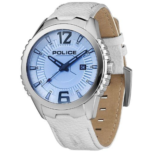 POLICE P13592JS-04 Vice Uhr Herrenuhr Lederarmband Edelstahl 100m Analog Datum weiss - http://on-line-kaufen.de/police/police-p13592js-04-vice-uhr-herrenuhr-edelstahl