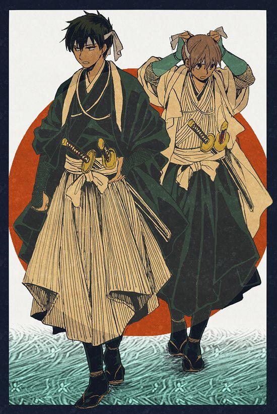 Hijikata and Okita Sougo #銀魂 #GINTAMA