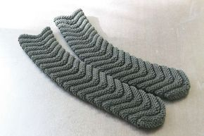 Tuto chaussettes faciles : les chaussettes à chevrons tricotées avec 2 aiguilles n°5 - taille 35 à 40 - ilfaitbo