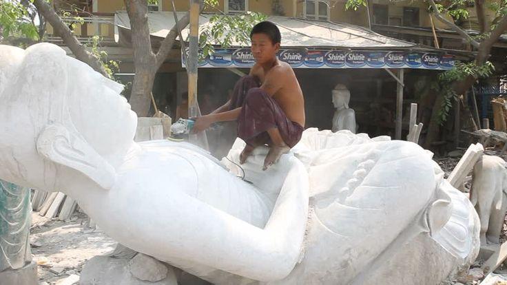 Estatua de Buda / Taller / Myanmar | HD Stock Video 440-835-930 ...