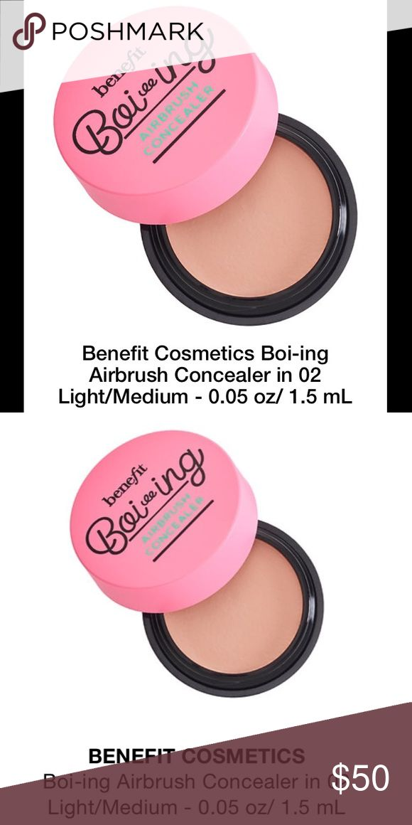 coming soon! Benefit Boi-ing Airbrush Concealer coming soon! Benefit Boi-ing Airbrush Concealer in 02 Light/Medium.  Deluxe travel size: 0.05 oz / 1.5 mL. CURRENTLY PRICED TO LOWER WHEN PRODUCT IS AVAILABLE. PLEASE LIKE THIS LISTING TO BE NOTIFIED OF AVAILABILITY AND PRICE DROP.  THANK YOU! Benefit Makeup Concealer