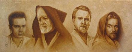 Star Wars - Evolution of Obi-Wan - Mike Kupka - World-Wide-Art.com - $125.00 #StarWars #Lucas