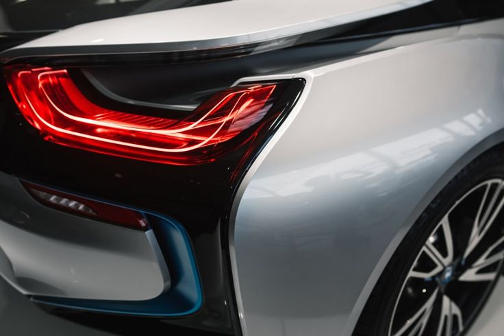FREE STOCK PHOTO: Rear lamps of BMW i8