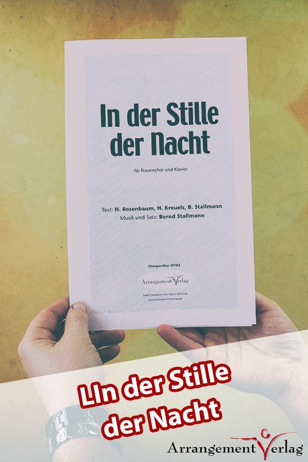 In der Stille der Nacht für gemischten Chor ✓ Melodiöses, modernes ...