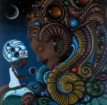 Mistura entre ficção científica, cultura africana, folclore afro-caribenho e do oeste da Índia, o trabalho do artista jamaicano Paul Lewin vem chamando a atenção pela convergência de culturas.