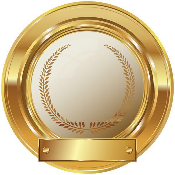 Gold Seal PNG Clip Art Image